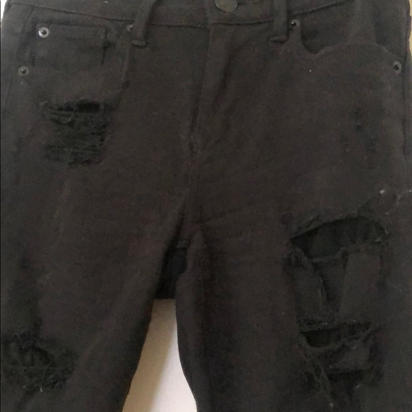 Express Denim - Destroyed black denim jeans